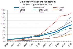 Les dépenses de prise en charge de la dépendance dans les pays de l'OCDE devraient, sous l'effet du vieillissement de leurs populations, doubler – voire tripler – d'ici 2050